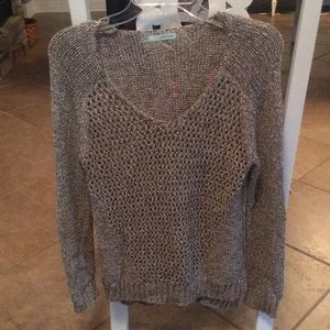Maurice front open weave sweater